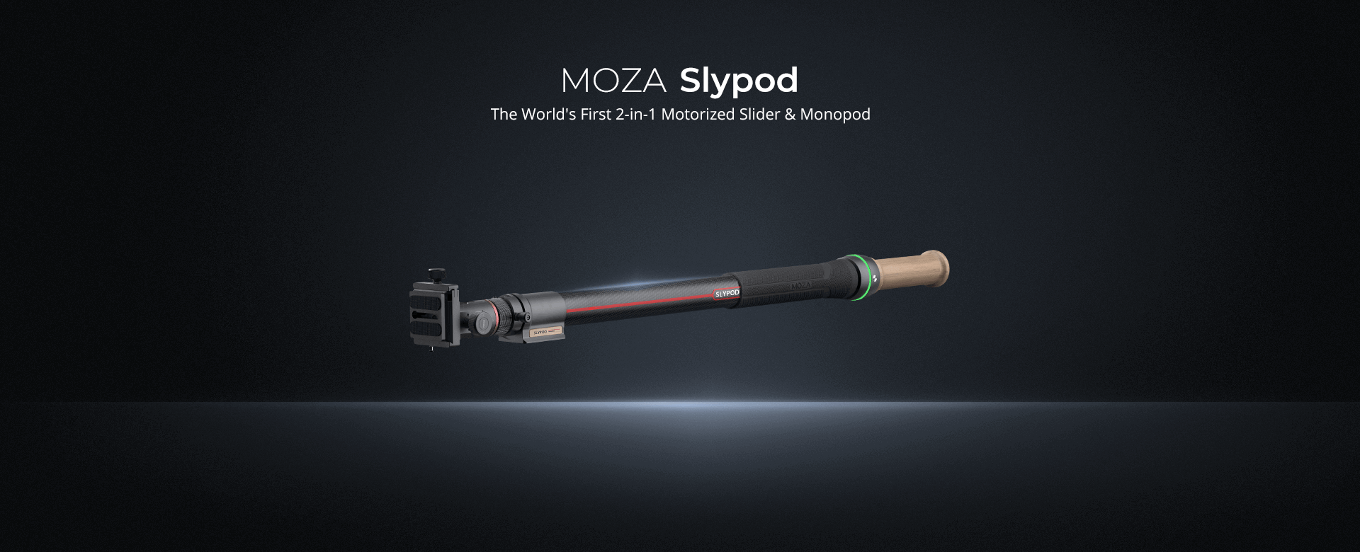 The World's First 2-in-1 Motorized Slider & Monopod